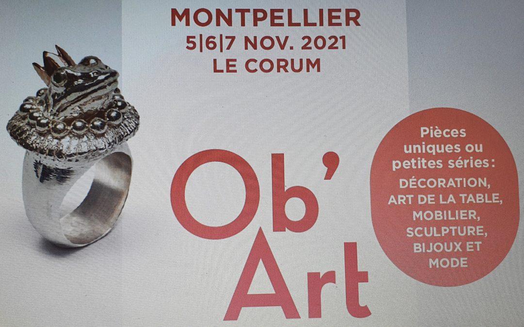 Rêves Nature vous donne rendez-vous les 5, 6 et 7 novembre 2021 au Salon Ob'Art de Montpellier – espace Corum de 10H00 à 20H00 (19H00 le dimanche)